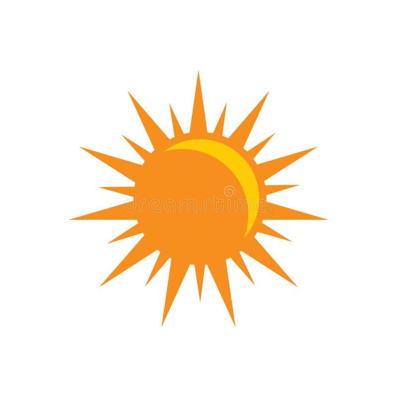 Icône du soleil de vecteur - symbole de signe de sunligth Illustration plate d'isolement sur le fond blanc illustration libre de droits