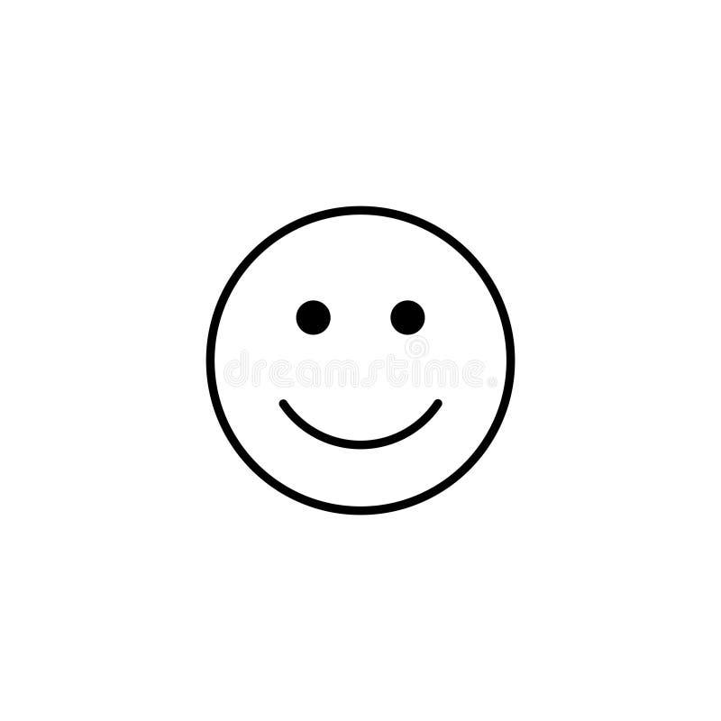 Icône du vecteur de sourire en plan Symbole de la ligne souriante à visage rond très heureux Émotion positive illustration de vecteur