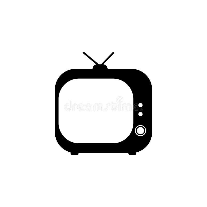 icône du vintage TV Éléments des actualités et du media coulant l'icône Conception graphique de qualité de la meilleure qualité S illustration de vecteur