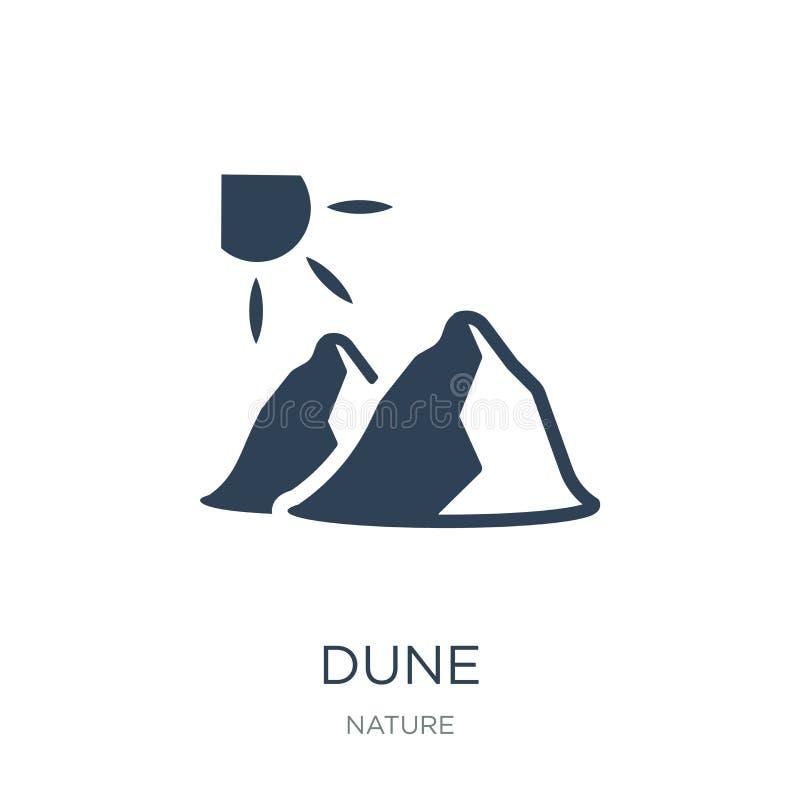 icône dunaire dans le style à la mode de conception icône dunaire d'isolement sur le fond blanc symbole plat simple et moderne d' illustration de vecteur