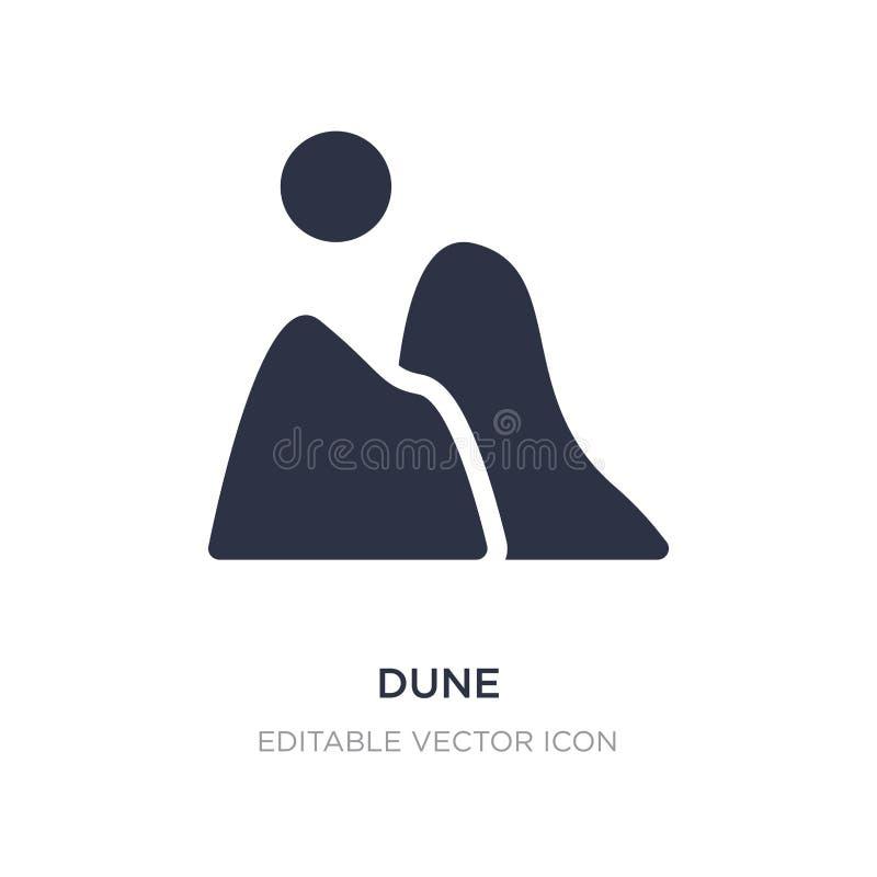 icône dunaire sur le fond blanc Illustration simple d'élément de concept de nature illustration libre de droits