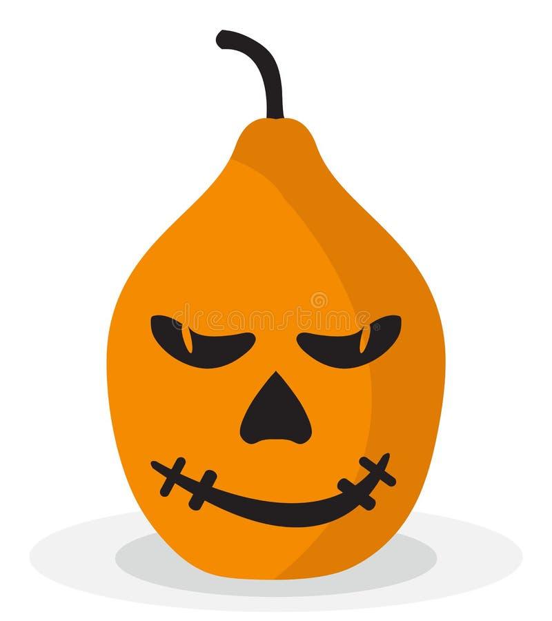 Icône effrayante et drôle de potiron de Halloween illustration de vecteur