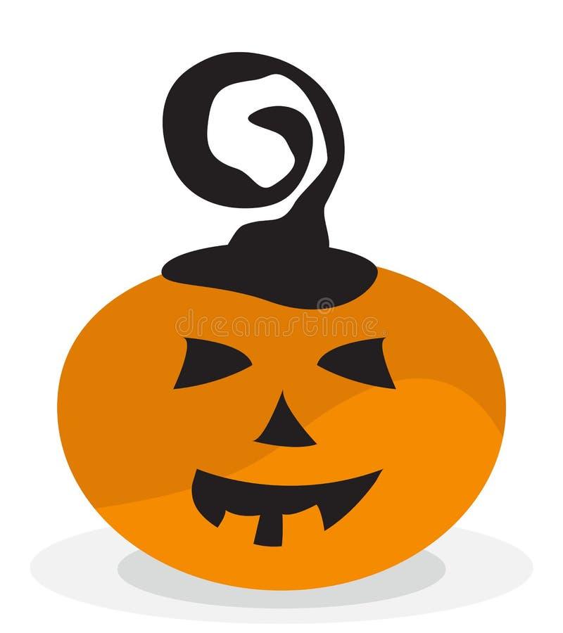 Icône effrayante et drôle de potiron de Halloween illustration stock