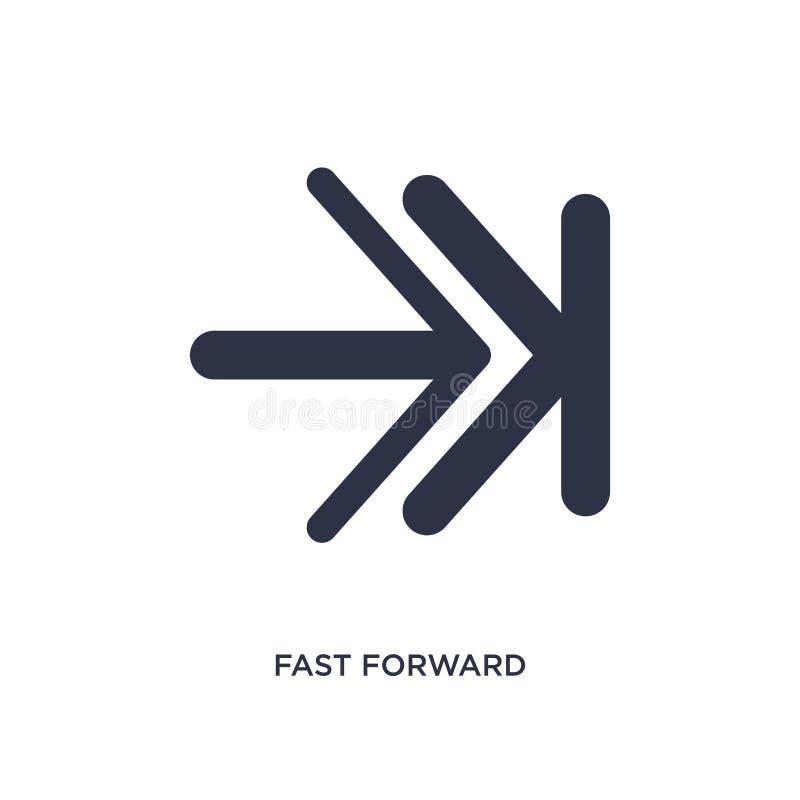 icône en avant rapide sur le fond blanc Illustration simple d'élément de concept des flèches 2 illustration de vecteur