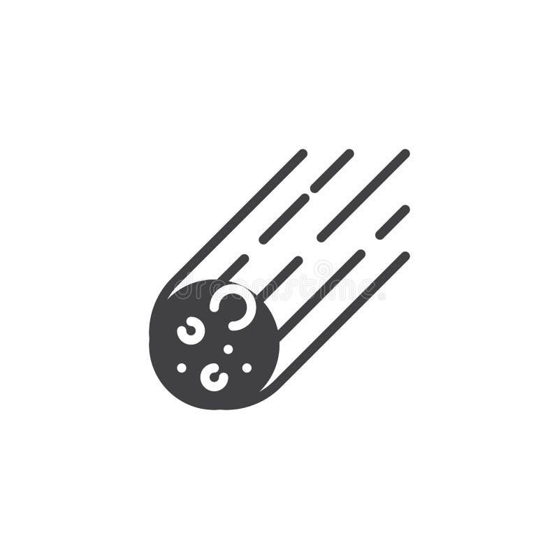 Icône en baisse de vecteur de roche en forme d'étoile illustration libre de droits