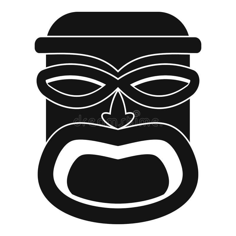 Icône en bois d'idole, style simple illustration libre de droits