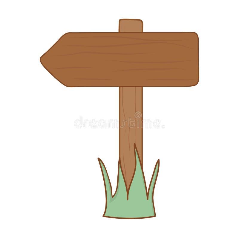 Icône en bois de guide de flèche illustration libre de droits