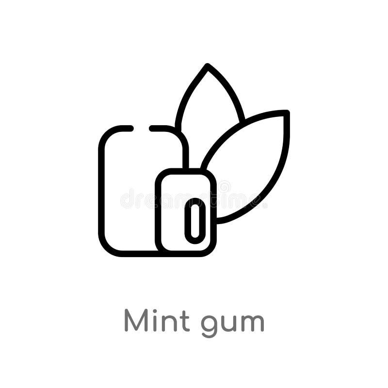icône en bon état de vecteur de gomme d'ensemble ligne simple noire d'isolement illustration d'élément de concept de dentiste men illustration de vecteur