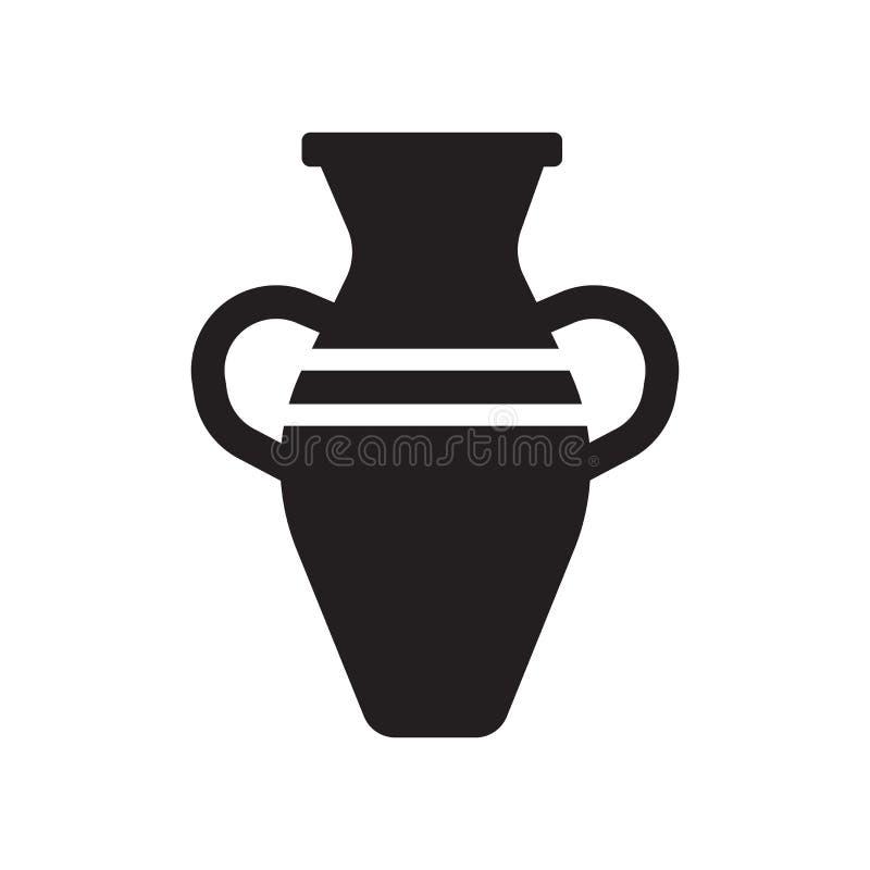 Icône en céramique Concept en céramique à la mode de logo sur le fond blanc franc illustration de vecteur
