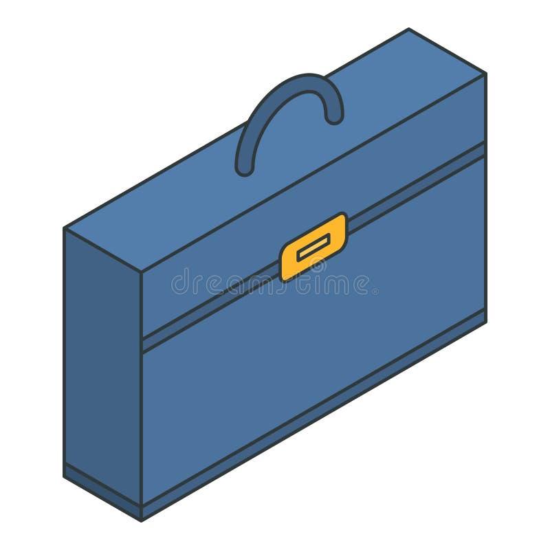 Icône en cuir de cas, style isométrique illustration stock