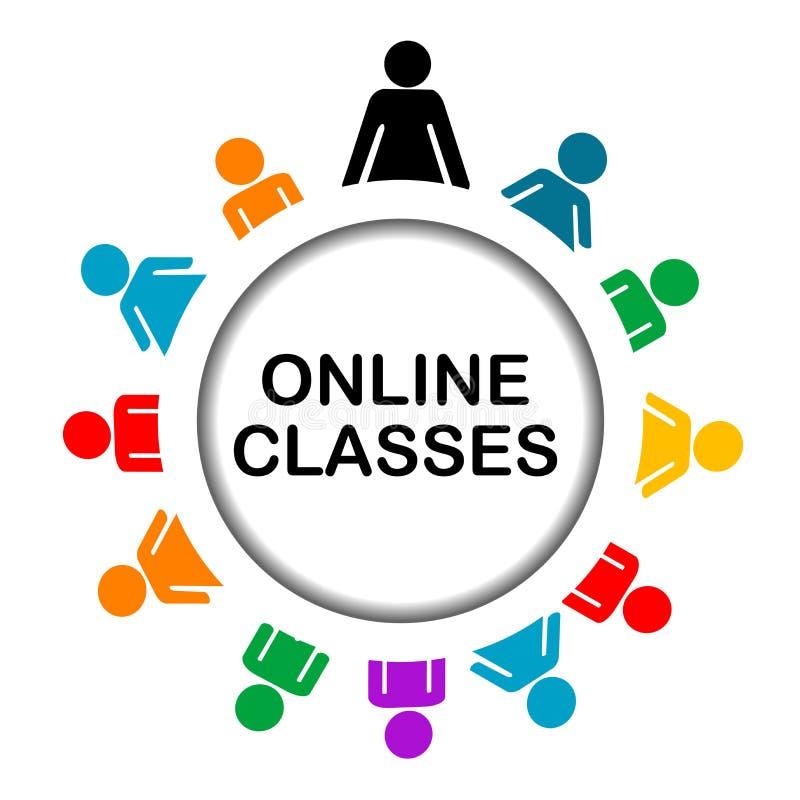 Icône en ligne de classes illustration de vecteur