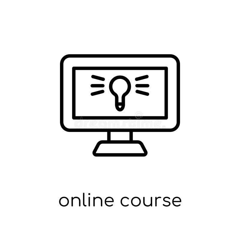 Icône en ligne de cours  illustration stock