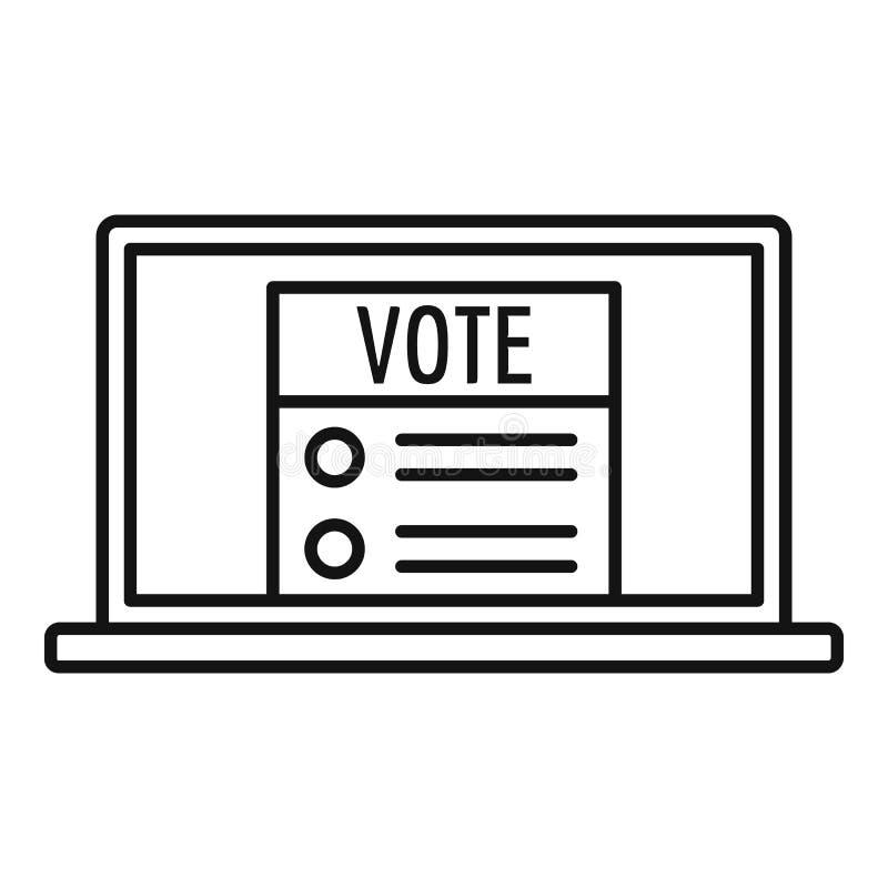 Icône en ligne moderne de vote, style d'ensemble illustration de vecteur