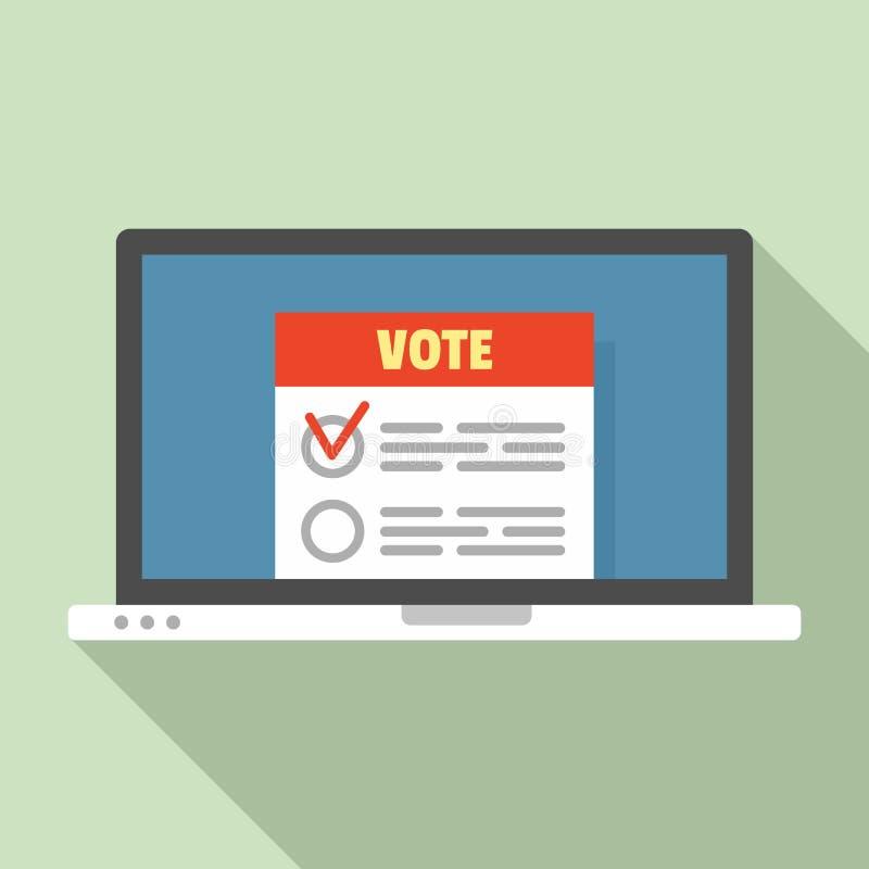 Icône en ligne moderne de vote, style plat illustration de vecteur