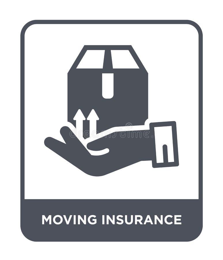 icône en mouvement d'assurance dans le style à la mode de conception icône en mouvement d'assurance d'isolement sur le fond blanc illustration libre de droits