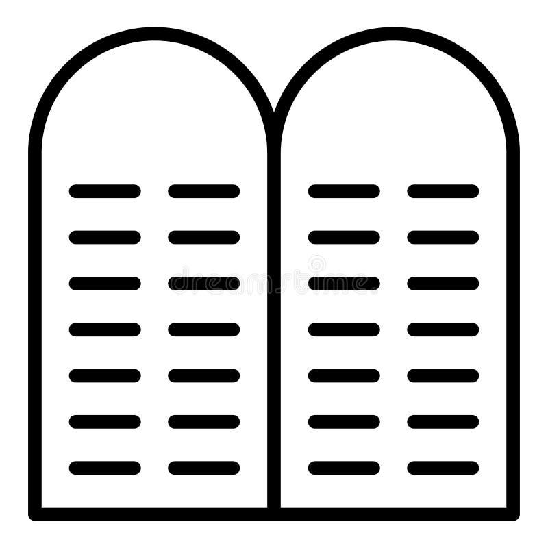 Icône en pierre juive, style d'ensemble illustration de vecteur