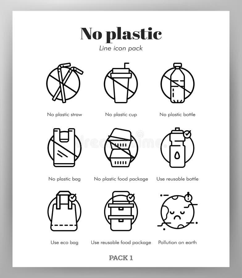 Icône en plastique ne raye pas le paquet illustration libre de droits
