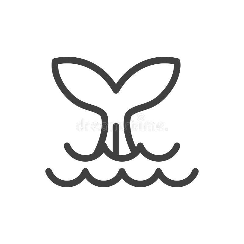 Icône en queue de poisson de vecteur Illustration d'isolement pour le graphique et le Web illustration libre de droits