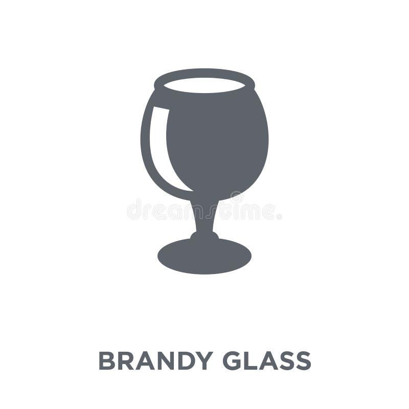 Icône en verre d'eau-de-vie fine de collection de boissons illustration stock