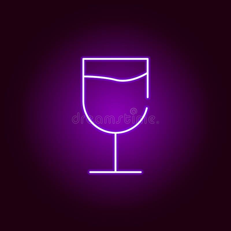 icône en verre dans le style au néon ?l?ment d'illustration de Halloween Signes et ic?ne de collection de symboles pour des sites illustration stock