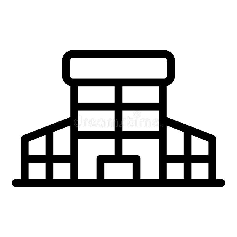 Icône en verre de bâtiment de mail, style d'ensemble illustration libre de droits