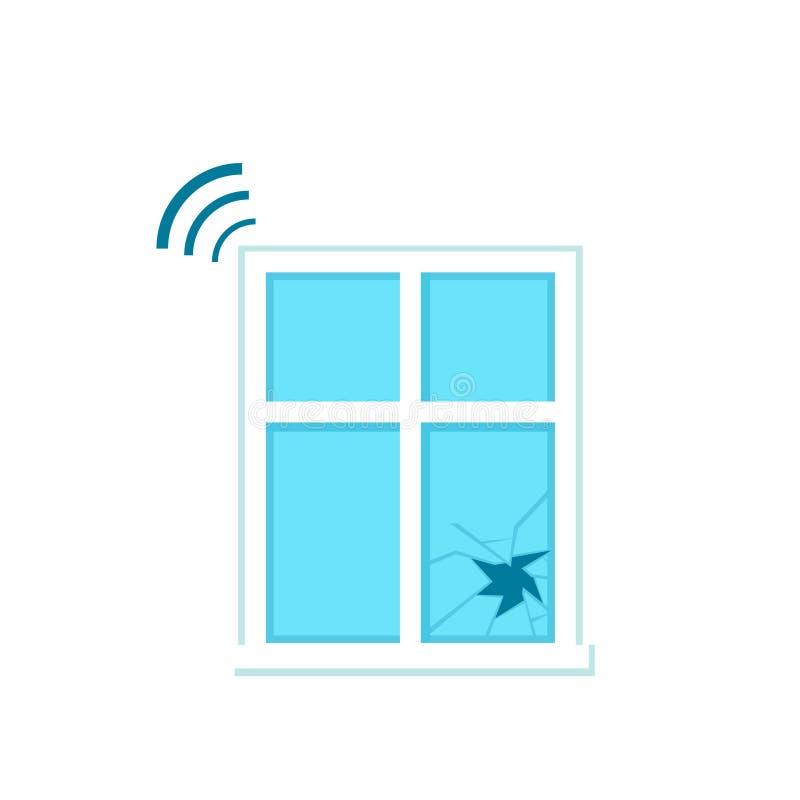 Icône en verre de capteur de coupure illustration stock