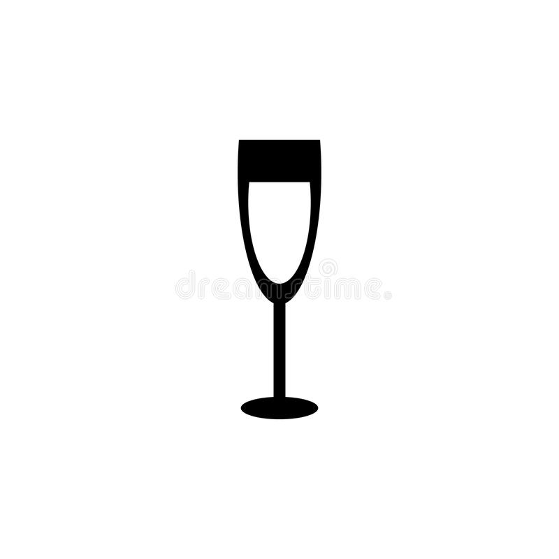 Icône en verre de Champagne illustration de vecteur
