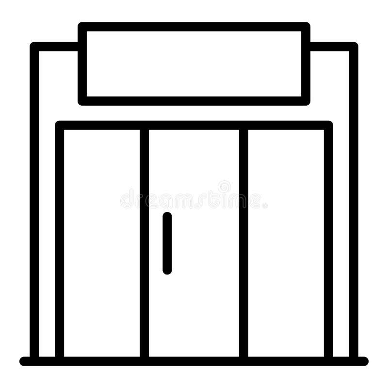 Icône en verre de magasin de rue, style d'ensemble illustration libre de droits