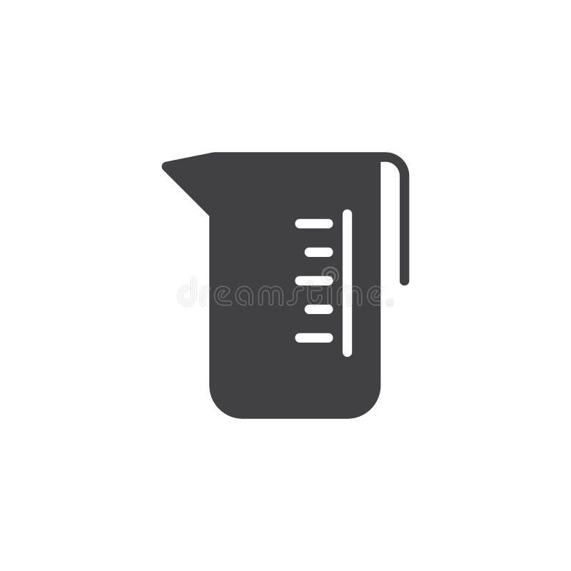Icône en verre de vecteur de mesure illustration de vecteur