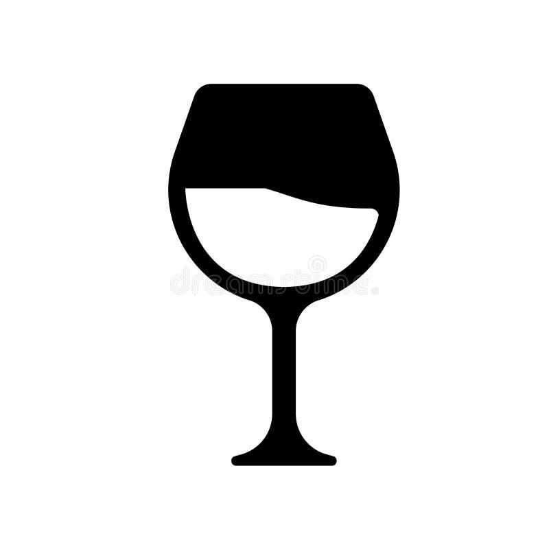 Icône en verre de vin  illustration de vecteur