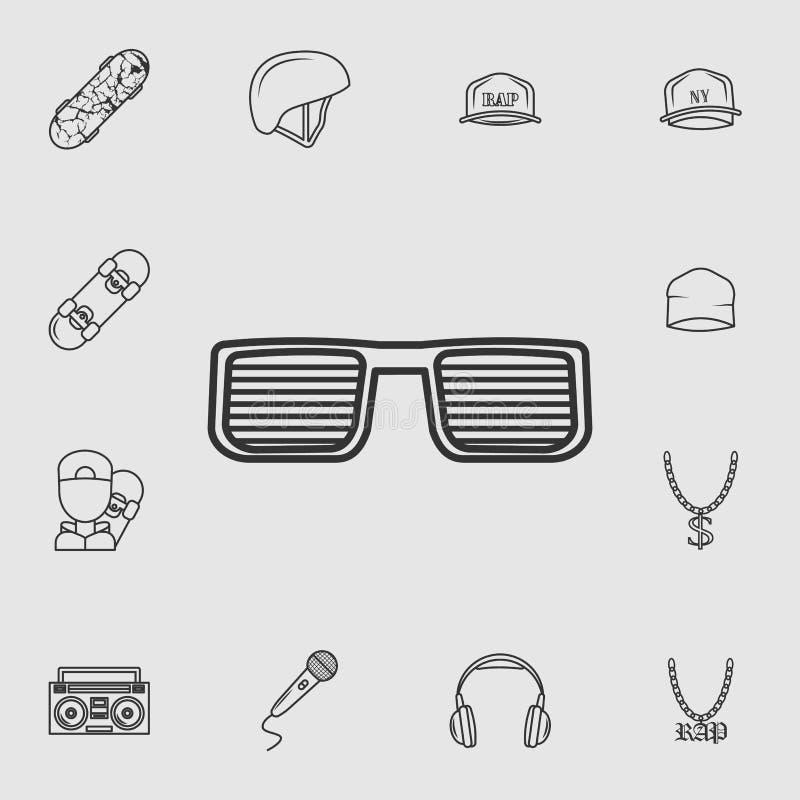 icône en verre du frappeur Ensemble détaillé d'icônes de style de vie Conception graphique de qualité de la meilleure qualité Une illustration stock