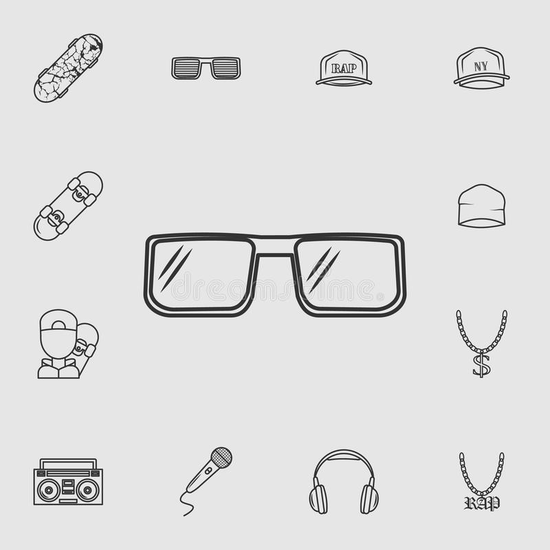 icône en verre du frappeur Ensemble détaillé d'icônes de style de vie Conception graphique de qualité de la meilleure qualité Une illustration de vecteur