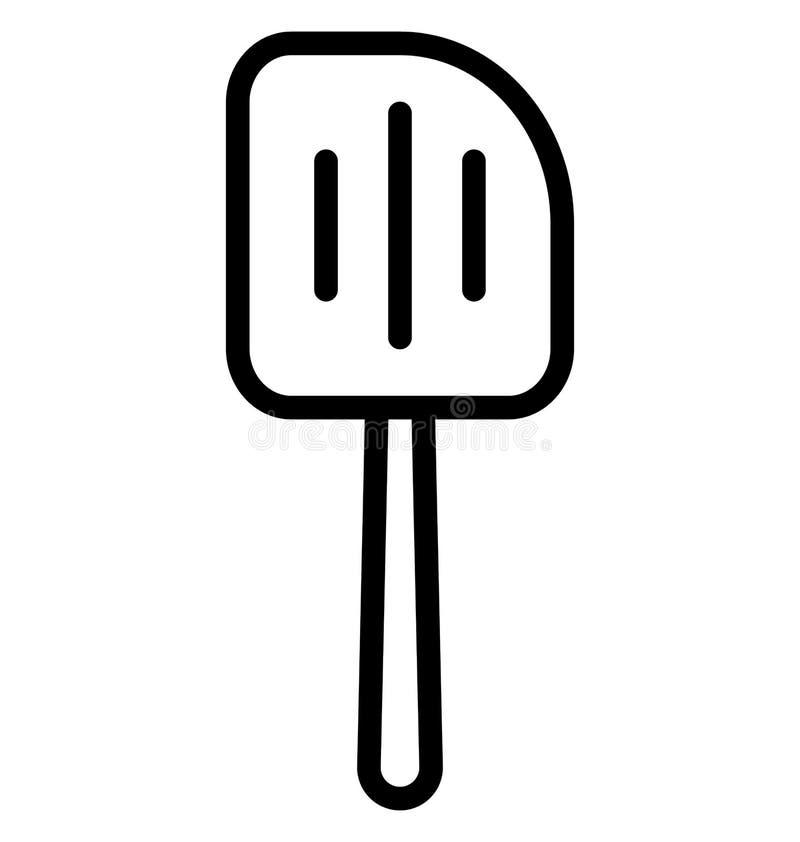Icône encochée de vecteur d'isolement par spatule qui peut être facilement modifiée ou éditée illustration libre de droits