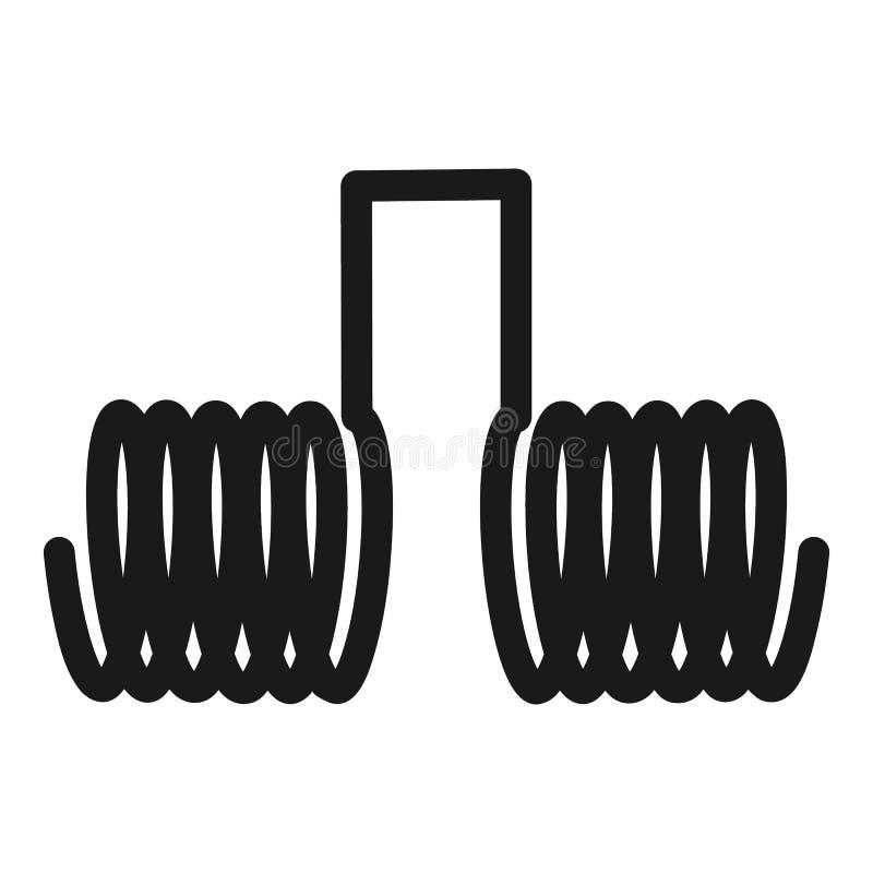 Icône ensemble reliée deux par spirales, style simple illustration de vecteur