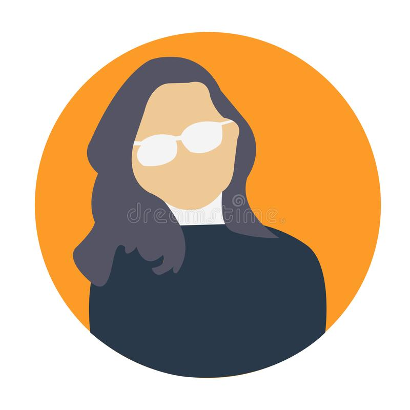 Icône ENV de vecteur d'avatar de femme photographie stock libre de droits