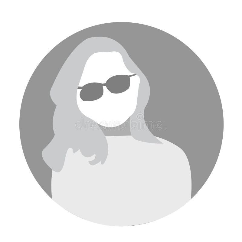 Icône ENV de vecteur d'avatar de femme photo stock