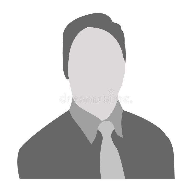 Icône ENV de vecteur d'avatar d'homme photos libres de droits