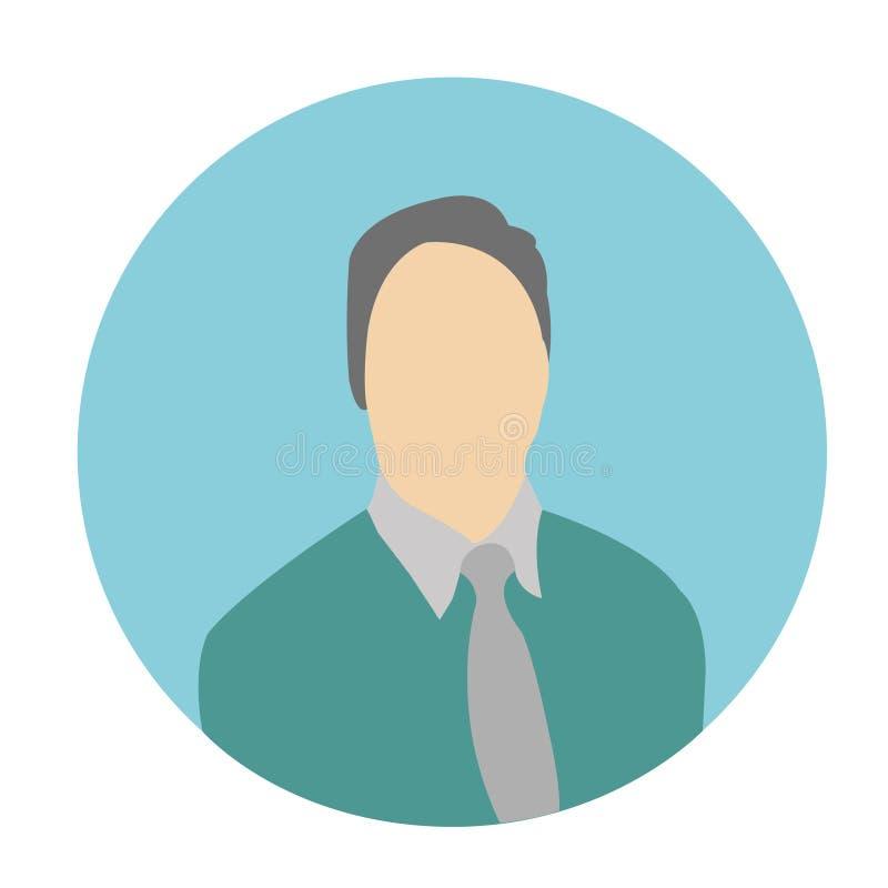 Icône ENV de vecteur d'avatar d'homme images stock