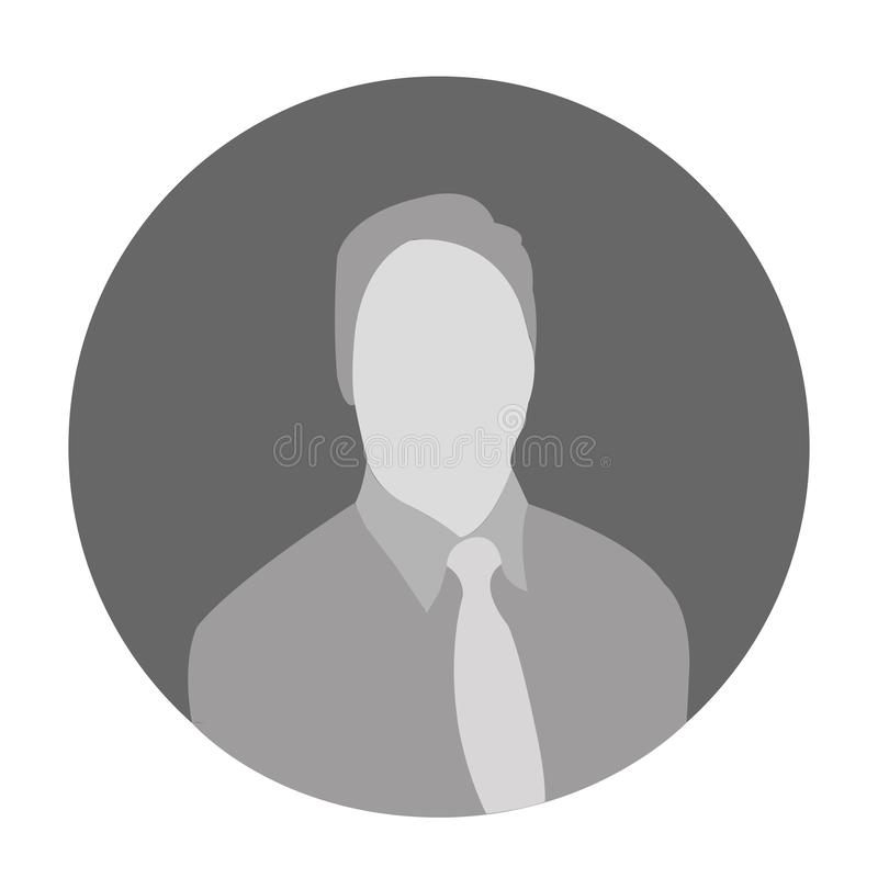 Icône ENV de vecteur d'avatar d'homme photographie stock libre de droits
