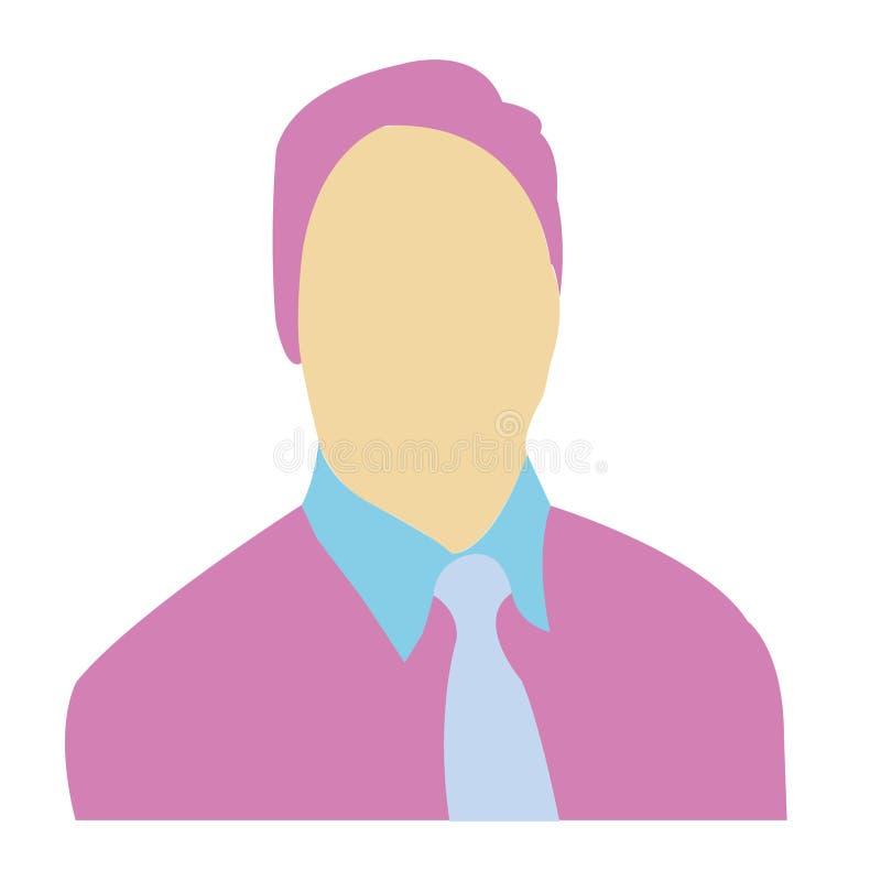 Icône ENV de vecteur d'avatar d'hommes image libre de droits