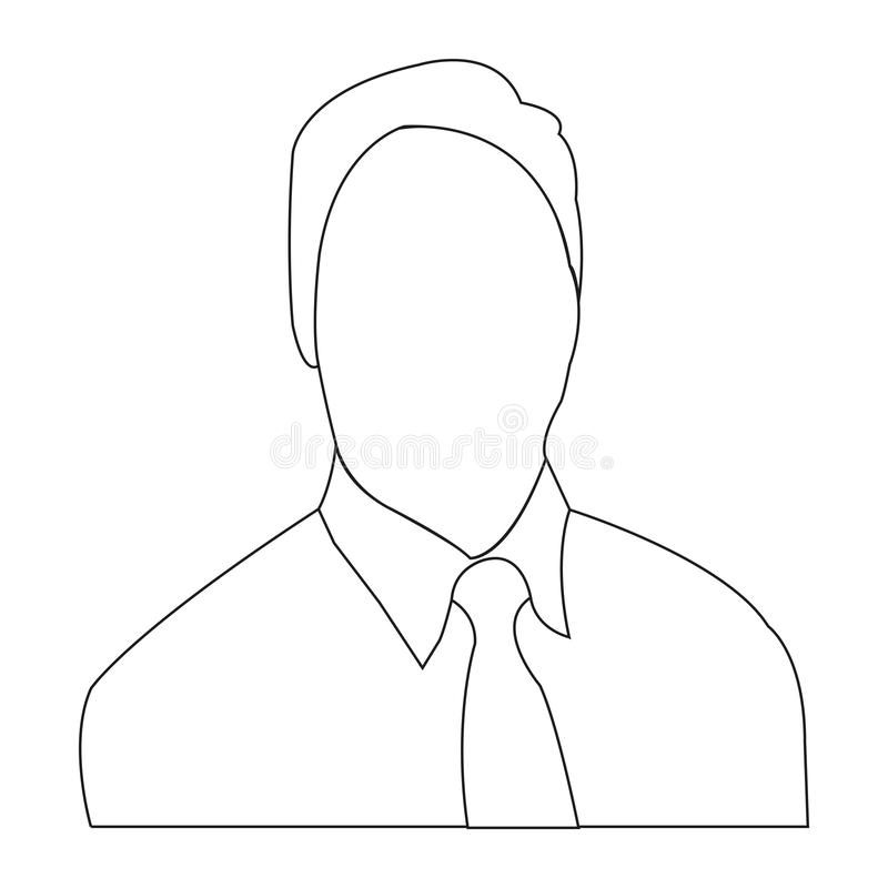 Icône ENV de vecteur d'ensemble d'avatar d'homme photos stock