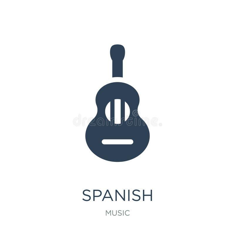 icône espagnole dans le style à la mode de conception icône espagnole d'isolement sur le fond blanc symbole plat simple et modern illustration de vecteur