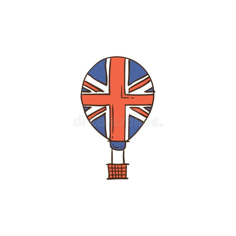 Icône et fond BRITANNIQUES avec la conception plate images libres de droits