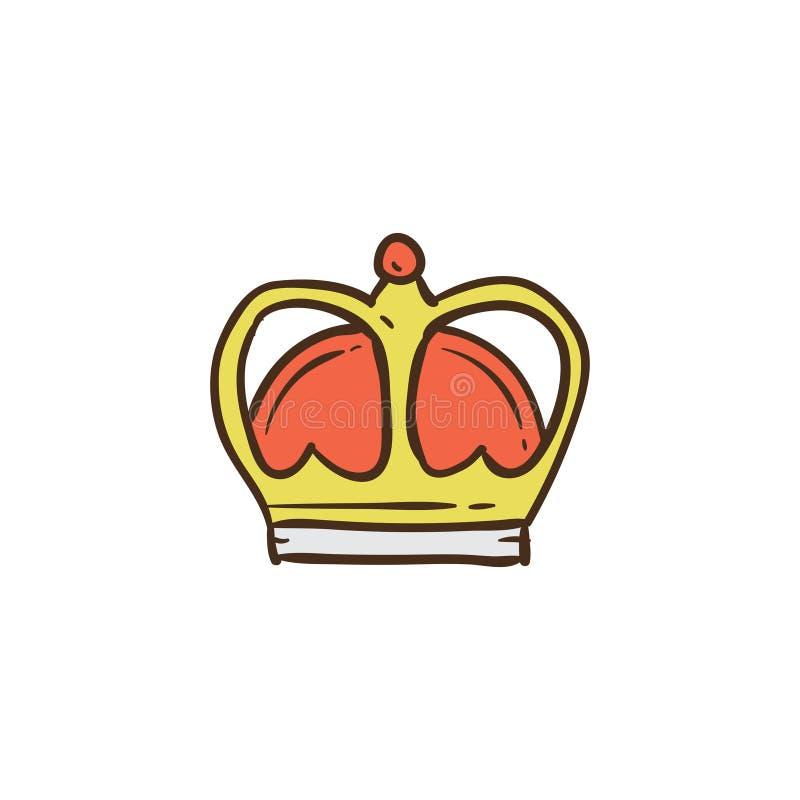 Icône et fond de couronne avec la conception plate photo libre de droits