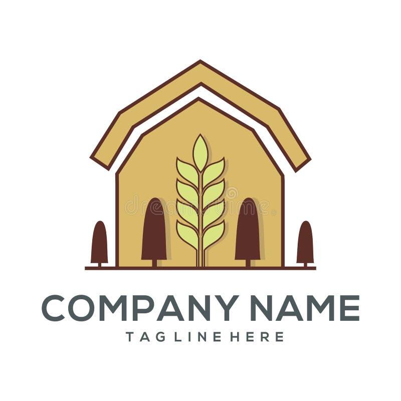 Icône et illustration de logo d'agriculture illustration stock