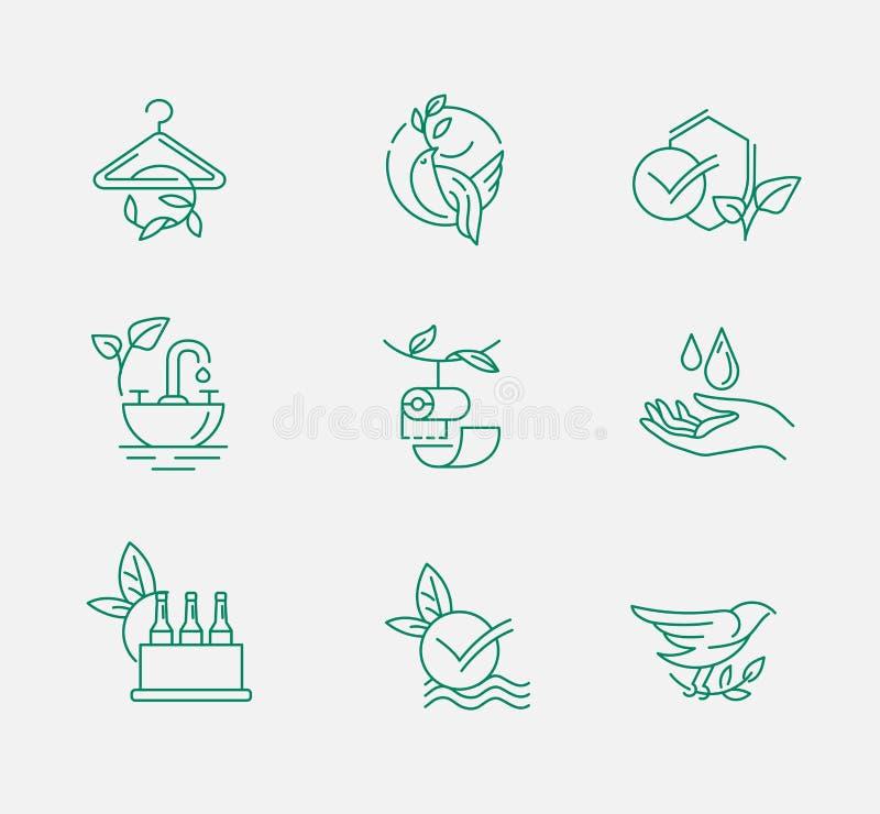 Icône et logo de vecteur pour la protection de l'environnement et la réutilisation illustration de vecteur