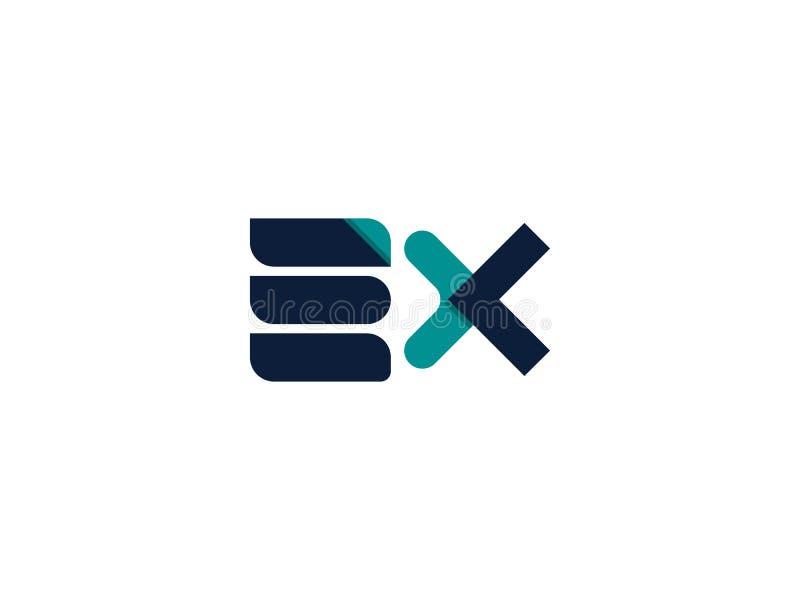 Icône EX de logo de lettre conception abstraite de signe d'alphabet illustration de vecteur