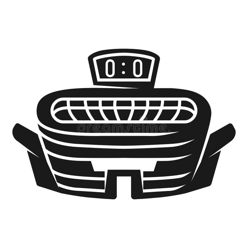 Icône extérieure de stade, style simple illustration stock