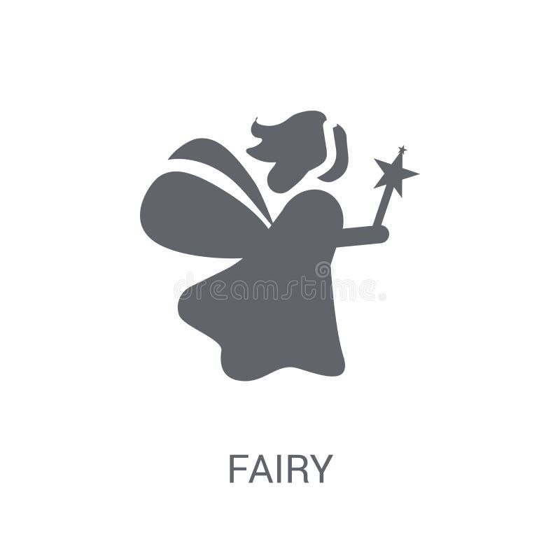 Icône féerique Concept féerique à la mode de logo sur le fond blanc de F illustration de vecteur