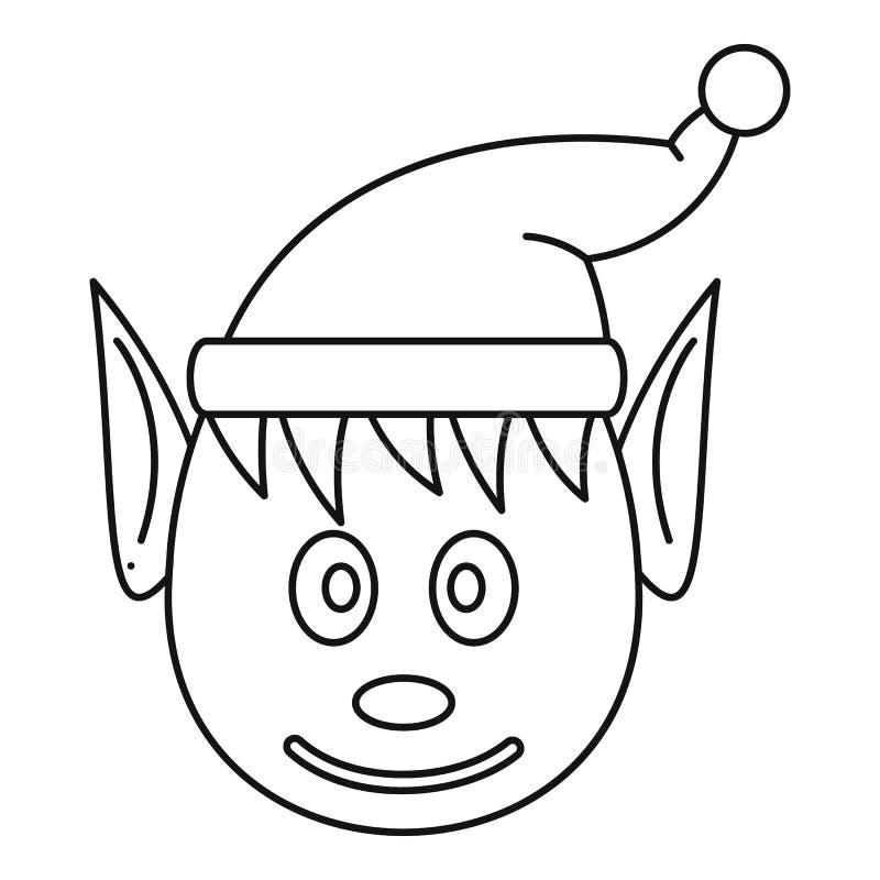Icône féerique principale, style d'ensemble illustration stock